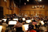 Nick Glennie-Smith conducts the strings at Sony