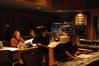 Music editor Curt Sobel, music executive Monica Zierhut, composer Teddy Castellucci, ProTools recordist Erik Swanson, and score mixer Dennis Sands