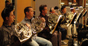 Dan Kelley, Phil Yao, Paul Klintworth, David Duke, Brian O'Connor and Jim Thatcher play French Horn on <i>Afrika</i>