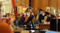 Concert master Endre Granat works out new bowings