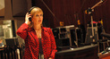 Composer Lolita Ritmanis prepares to conduct her cues