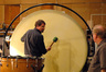 Greg Goodall plays the gong drum