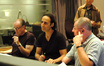 Orchestrator Conrad Pope, composer Alexandre Desplat and scoring mixer Shawn Murphy