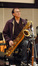 Dan Higgins plays baritone saxophone