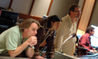 Director Raja Gosnell, composer Heitor Pereira, scoring mixer Alan Meyerson and recordist Tom Hardisty