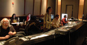 Orchestrator Ladd McIntosh, music editor Melissa Muik, ProTools recordist Kevin Globerman, composer Heitor Pereira, scoring mixer Alan Meyerson, and recordist Tom Hardisty