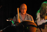 M.B. Gordy plays taiko drums in a concert performance of music from Battlestar Galactica.