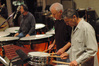 Percussionists Peter Limonick, Danny Greco and Bob Zimmitti