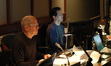 Music editor Bob Schaper and ProTools recordist Larry Mah