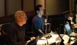 Music editor Bob Schaper and ProTools recordist Larry Mah