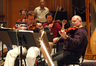 Violinists: Front row, l to r: Darius Campo, Norman Hughes; back row, l to r: Kevin Connolly, Julian Hallmark