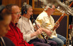 Woodwinds, l to r: Valarie King and Tom Boyd listen to Gary Gray (clarinet) and Dave Riddles (bassoon)