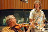 Concertmaster Sid Page and scoring mixer Charlie Pakaari