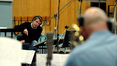 Harry Gregson-Williams gives feedback to the brass section