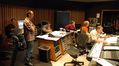 Orchestrator Andrew Kinney, First Artists Management agent Randy Gerston, composer Christopher Lennertz, ProTools recordist Kevin Globerman, stage engineer Charlie Pakaari and scoring mixer Jeff Vaughn