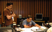 Scoring intern Aaron Moore and composer Christopher Lennertz