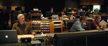 Orchestrator Brad Dechter, stage tech Tom Steel, and scoring mixer Shawn Murphy