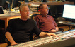 John Debney and scoring mixer Shawn Murphy listen to playback