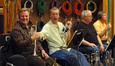 David Washburn, Jon Lewis, Malcolm McNab and Warren Luening mug for the camera