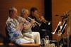 Trumpeters Jon Lewis, Malcolm McNab and Wayne Bergeron