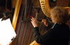 Gayle Levant plays harp