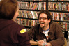 Michael Giacchino laughs with a fan