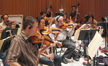 Mark Robertson, Concertmaster Alyssa Park, Endre Granat, and Songa Lee play strings on <i>Assassin's Creed II</i>