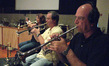 Marissa Benedict, Jon Lewis and Jim Grinta on trumpet