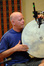 MB Gordy plays the frame drum