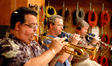 Rick Baptist, Jon Lewis and Warren Luening on trumpets