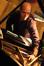 Pianist Randy Kerber prepares the piano