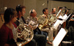 Kristy Morrell, Steve Becknell, David Duke and Brian O'Connor play French horns, Doug Tornquist on tuba
