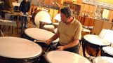 Peter Limonick plays timpani