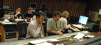 String arranger Todd Haberman, music editor David Klotz, composer Ramin Djawadi, scoring mixer Frank Wolf, and stage engineer Charlie Pakaari