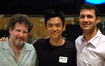 Scoring mixer Frank Wolf, actor John Cho and composer Ramin Djawadi