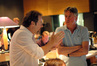 Director Stephen Sommers discusses a scene with composer Alan Silvestri