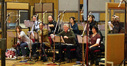 The session contained a full Brass section with added Cimbasso. Strings were recorded on the first day, with Brass and Woodwinds (woodwinds seen here) on the 2nd day and a 30 piece Choir in the evening. Balance Engineer Rich Aitken was on hand to ensure that all the seperate recorded elements would fit together in the final mix.
