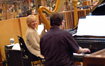 Harpist Gayle Levant and pianist Mark Gasbarro