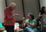 Marty Krofft talks with director Brad Liberling