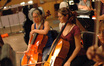 Cellists Vanessa Freebairn-Smith and Jennifer Kuhn