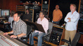 Librarian Phillip Jones, assistant engineer Kevin, scoring mixer Erik Swanson, assistant Will Holiday, composer Daniel Licht, agent Seth Kaplan and director Timothy Busfield