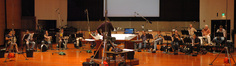 A panorama of the brass ensemble