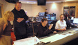 Orchestrators Nan Schwartz and Conrad Pope, composer Mark Isham, and scoring mixer Stephen Krause