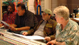 Music editor Jason Ruder, orchestrator Jim Honeyman, composer Shawn Clement and scoring engineer Leslie Ann Jones