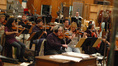 Concertmaster Endre Granat leads the string section