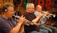 Dave Washburn, Malcolm McNab and Rob Frear play trumpets on <i>Resident Evil 5</i>