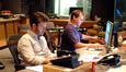 Scoring assistant Pieter Schlosser and ProTools Recordist Kevin Globerman