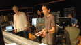 Scoring mixer Jeff Biggers, orchestrator Penka Kouneva, composer Steve Jablonsky and ProTools recordist Larry Mah