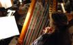 Katie Kirkpatrick plays harp
