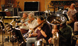 Andy Malloy, Bill Booth and Bill Reichenbach on trombone; Doug Tornquist on tuba